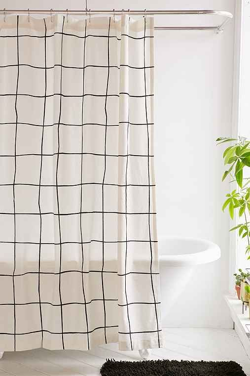 Wonky Grid Shower Curtain Trendy Shower Curtain Grid Shower