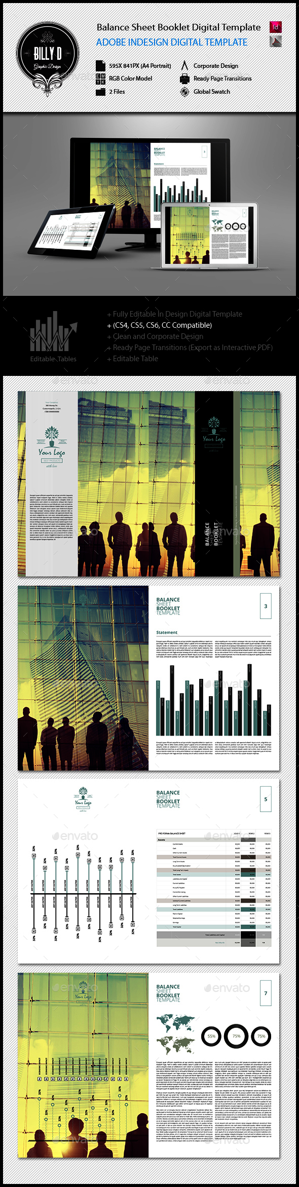 Balance Sheet Booklet Digital Template  Balance Sheet Adobe