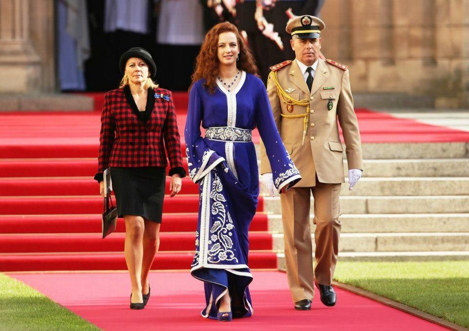 Lalla Salma au mariage du Prince Guillaume !