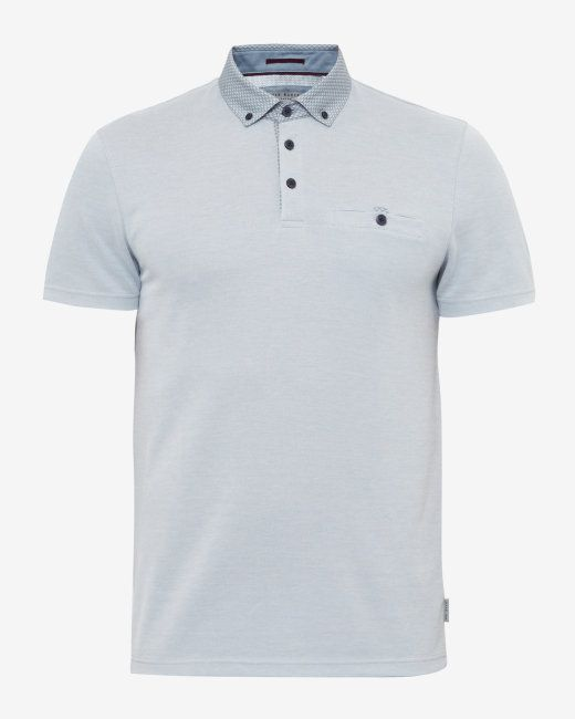 5c4741b65 Geo print collar polo shirt - Light Grey