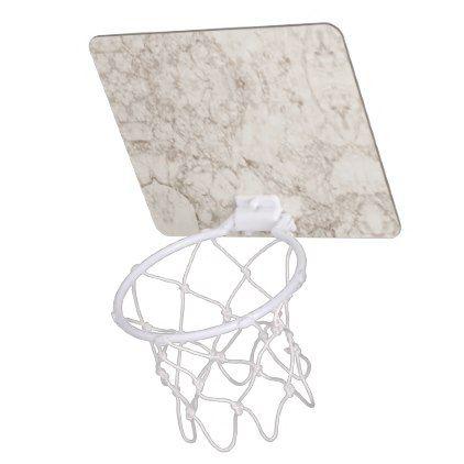 Light Brown Marble Look Mini Basketball Backboard Pinterest