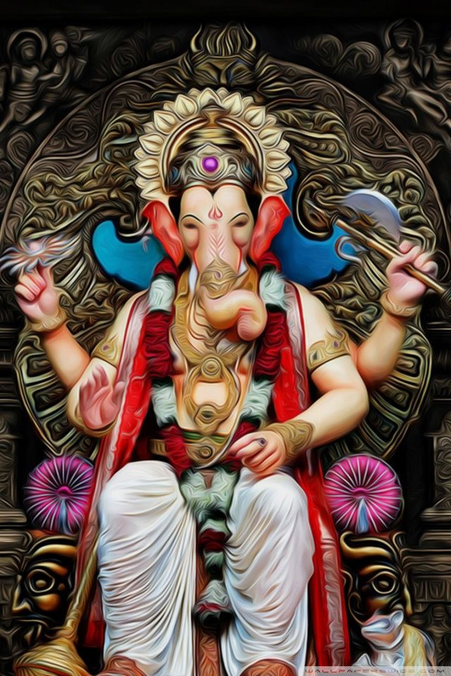 Download Free Apple Iphone 4s Ganesh Wallpapers Most Downloaded Ganesh Wallpaper Shri Ganesh Images Ganesha Pictures