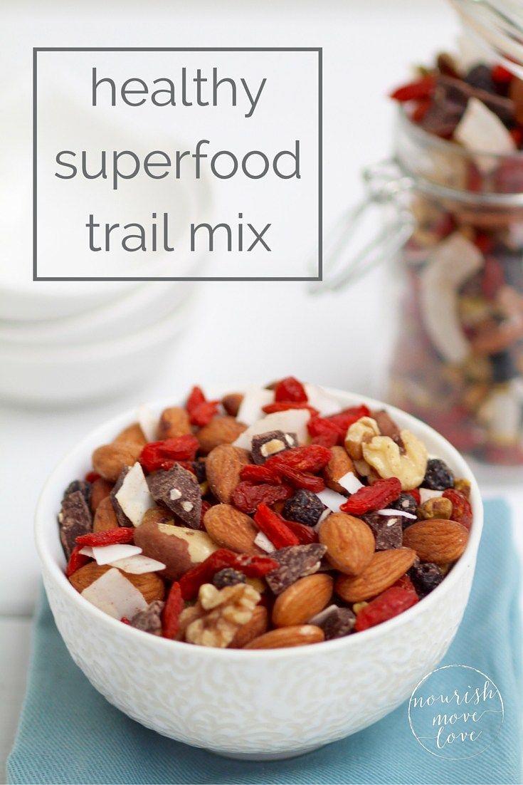 Healthy superfood trail mix recipe trail mix recipes