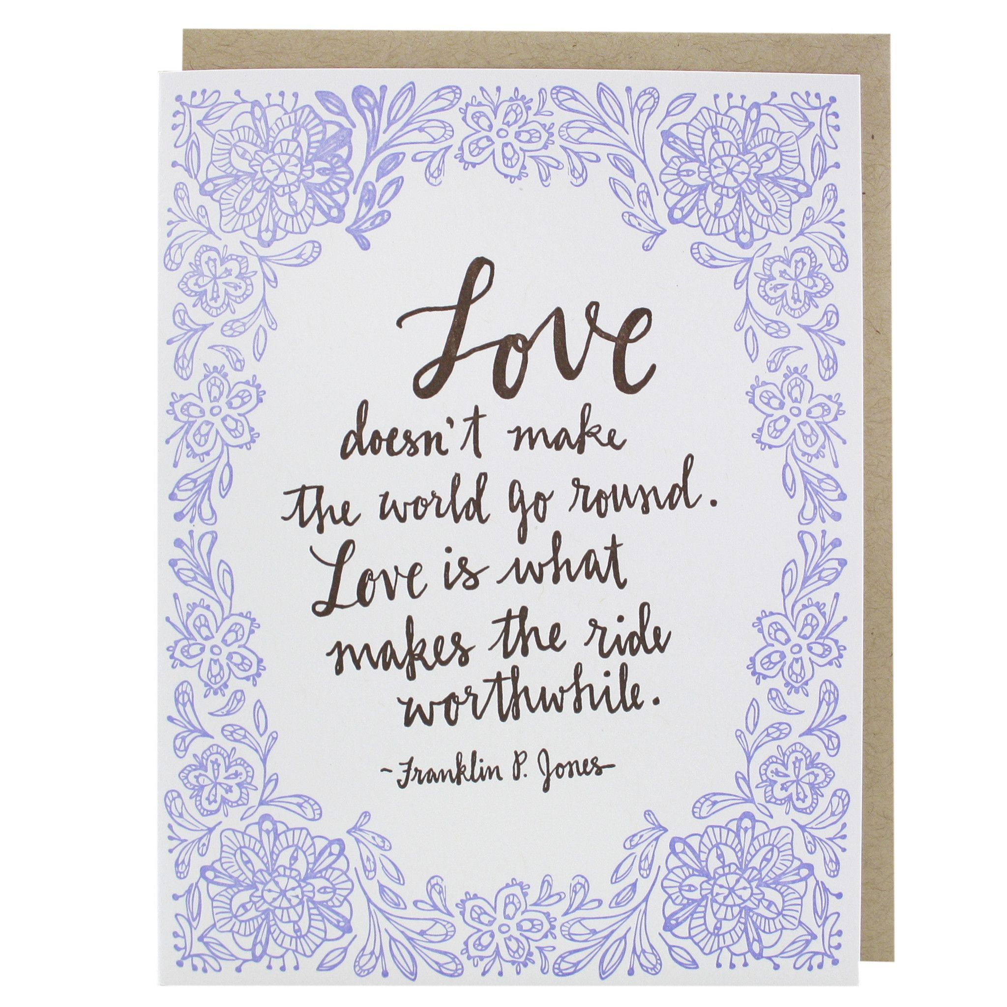 Romantic Love Quote Wedding Card Wedding Congratulations