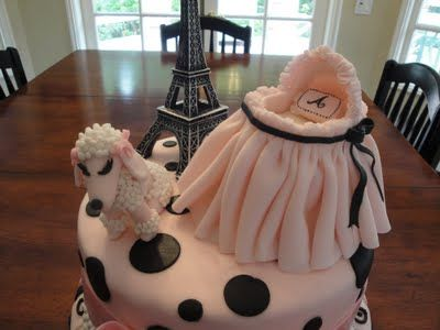 Pink Paris Themed Baby Shower Cake Babies And Kids Foodtreat