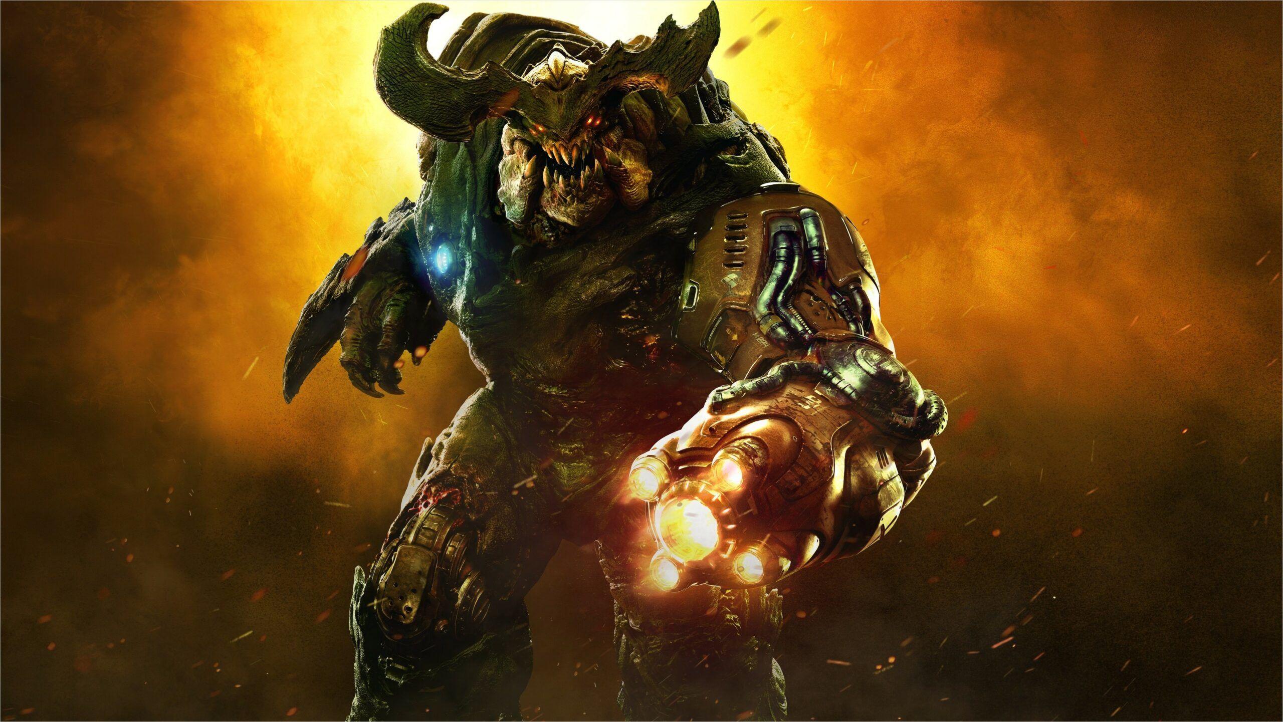 Doom 2016 4k Wallpaper In 2020 Digital Wallpaper Doom 2016 Doom