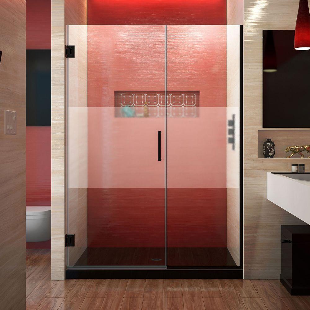 Unidoor Plus 51 1 2 52 Inch W X 72 Inch H Frameless Shower Door
