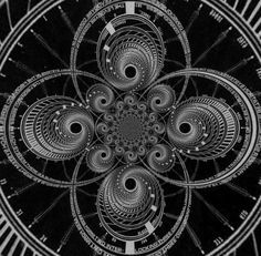 black and white fractals,