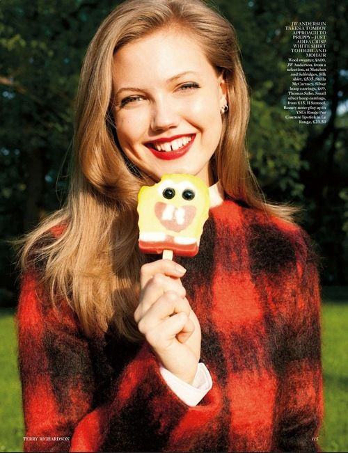 UK Vogue August 2012 (Lindsey Wixon by Terry Richardson)