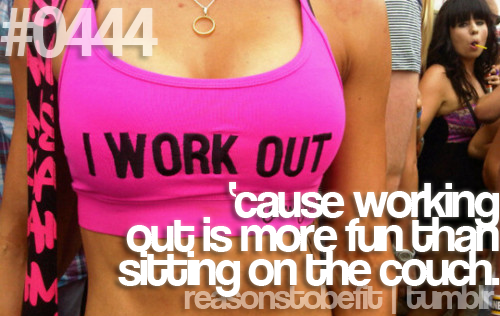 i work out..