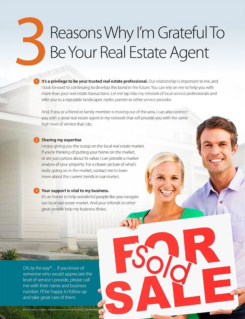 3 Reasons I M Grateful To Be An Agent Real Estate Postcards Real Estate Ads Real Estate Quotes