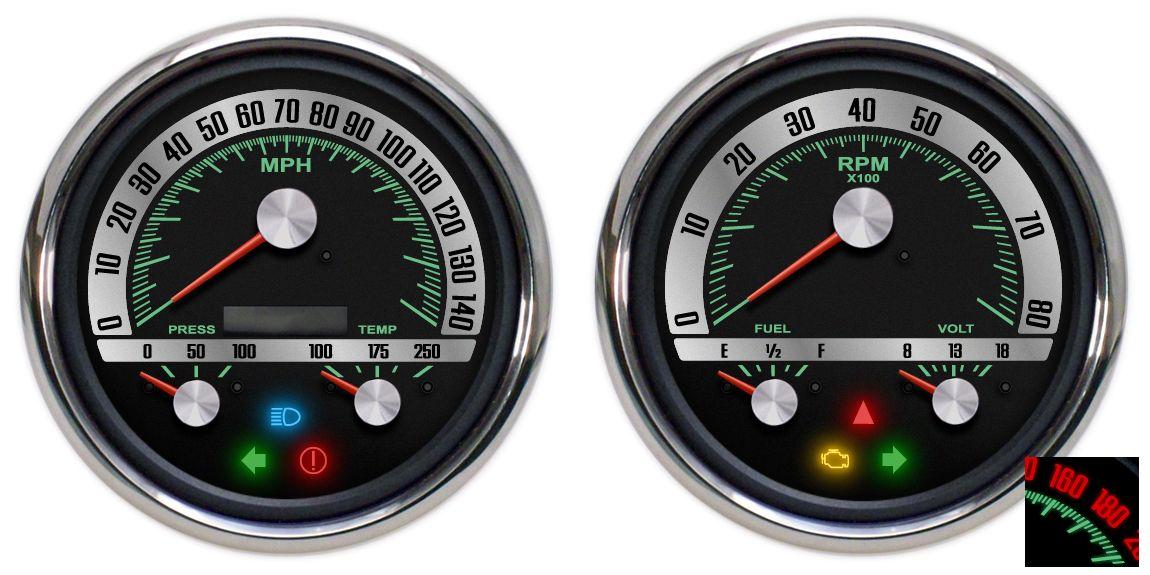 1968 SERIES 3-1 GAUGE SET - New Vintage USA INC   NVU gauges