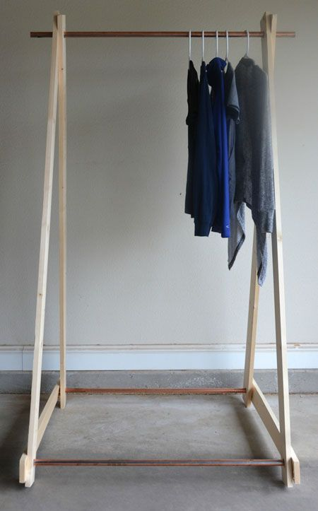 Diy Copper Clothing Rack Two Thirty Five Designs Diy Clothes Rack Wooden Clothes Drying Rack Diy Clothes Rack Cheap