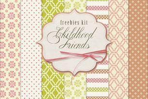 New Freebies Kit of Background - Childhood Friends (Far Far Hill) #childhoodfriends