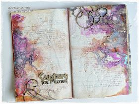 Marta Lapkowska: 'Capture the moment' journal spread for Scrap FX