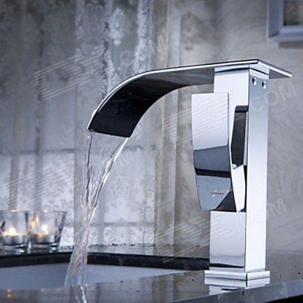 YDL-F-0502 Chrome Waterfall Brass Bathroom Faucet - Silver | go ...
