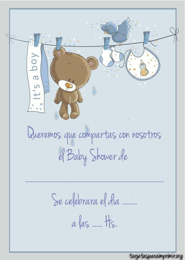 Resultado de imagen para invitaciones baby shower varon | Cosas de ...
