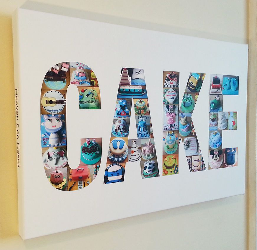Word Name Collage 2 - 8 letters - Personalised Canvas Print from ...