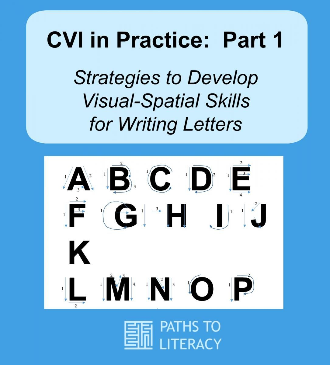 Cvi In Practice Strategies To Develop Visual Spatial Skills For Writing Letters