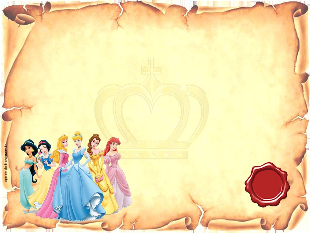 Convites Aniversario Para Imprimir Convite Princesa Convites Da