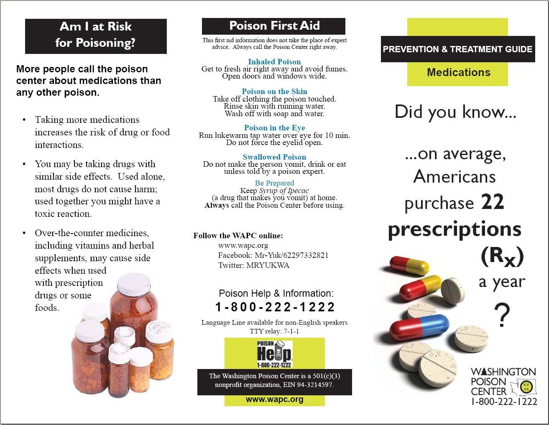 Wapc Medication Safety Brochure Page 1 Medical Educational