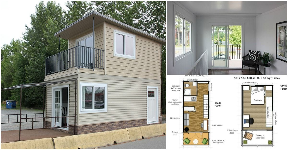 This Modular Tiny House Can Be Delivered To You Fully Assembled Free Floor Plans Modern Tiny House Tiny House Plans Tiny House Floor Plans