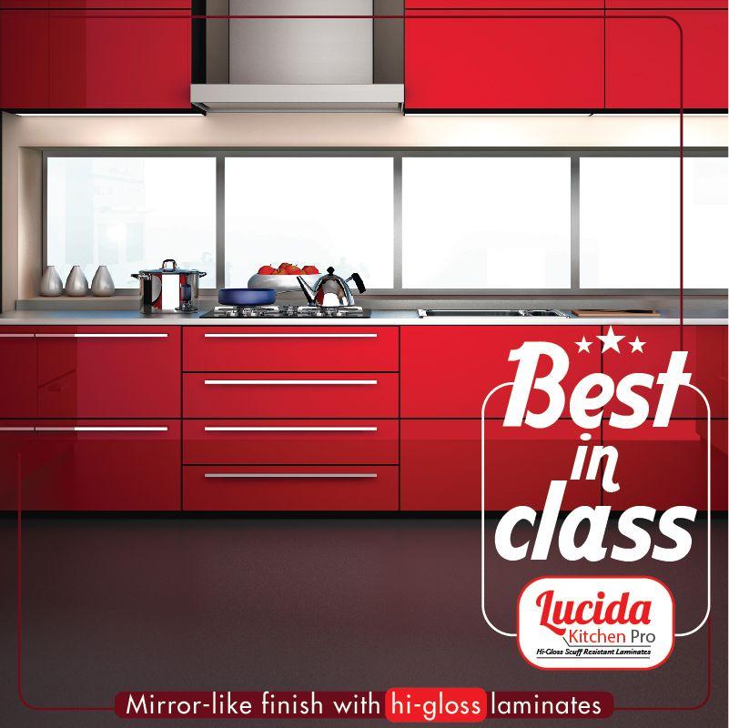 Lucida Kitchenpro Laminates Are Hi Gloss With Mirror Like Finish Centurylaminates Bestinclass Laminates Kitchen It Is Finished