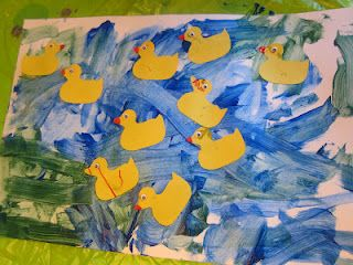 Eric Carle 10 Little Rubber Ducks Art Counting And Number Recognition Eric Carle Art Pond Crafts Duck Art