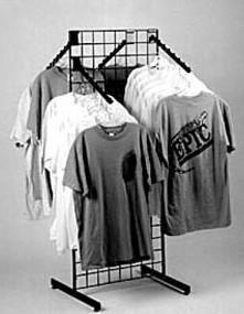 Grid T Shirt Rack Apparel Rack Grid Display Retail Shirt