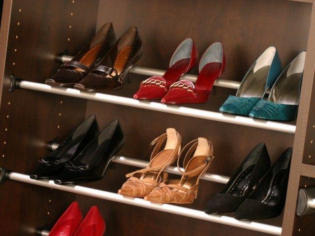 Best California Closets Dfw Shoe Storage Shoe Rails 400 x 300
