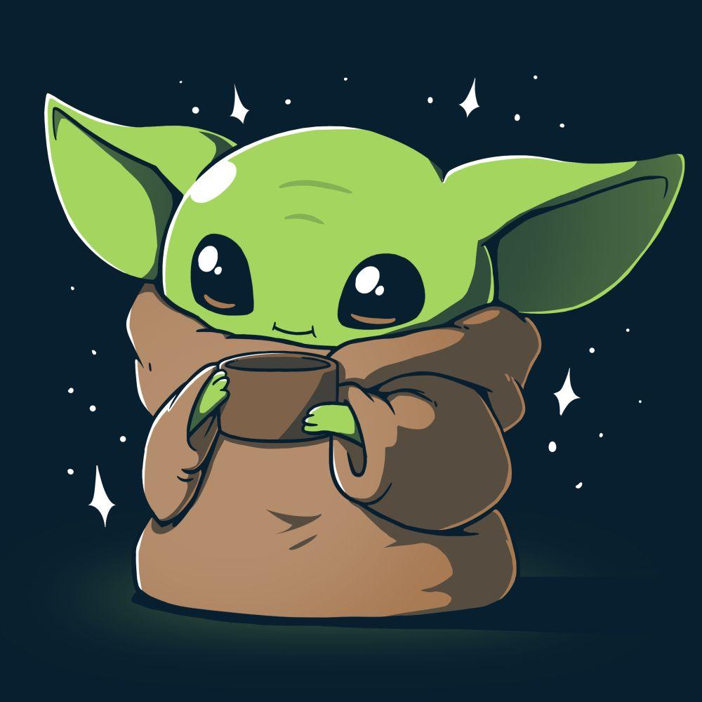Sipping Soup Official Star Wars Tee Yoda Wallpaper Cute Cartoon Wallpapers Cute Cartoon Drawings