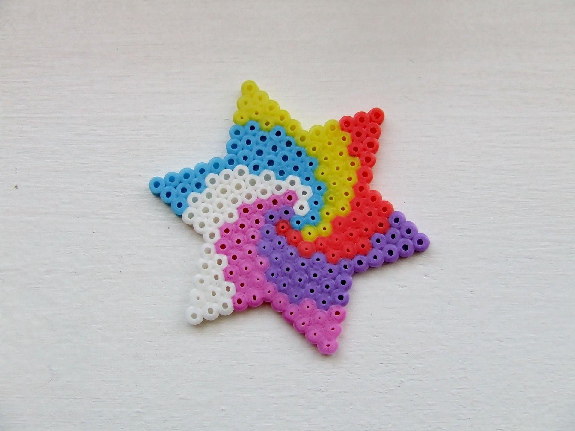 Kit etoile pastel en perles repasser repasser activit s enfants et pastel - Perle a repasser modele ...
