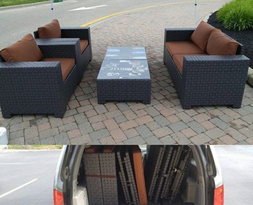 All of the furniture about fit in the Honda below. | Slim Outdoor ...