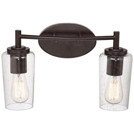 Photo of Quoizel Edison 16″ Wide Bronze 2-Light Bathroom Fixture – #6T343 | Lamps Plus