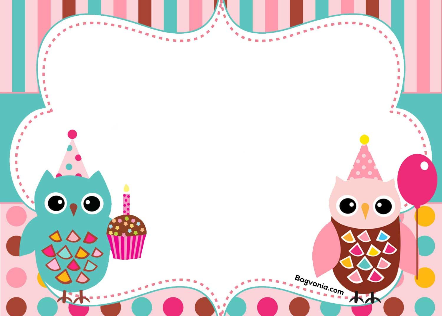 Free Free Printable Owl Birthday Invitation Owl Birthday Invitations Owl Birthday Owl Invitations