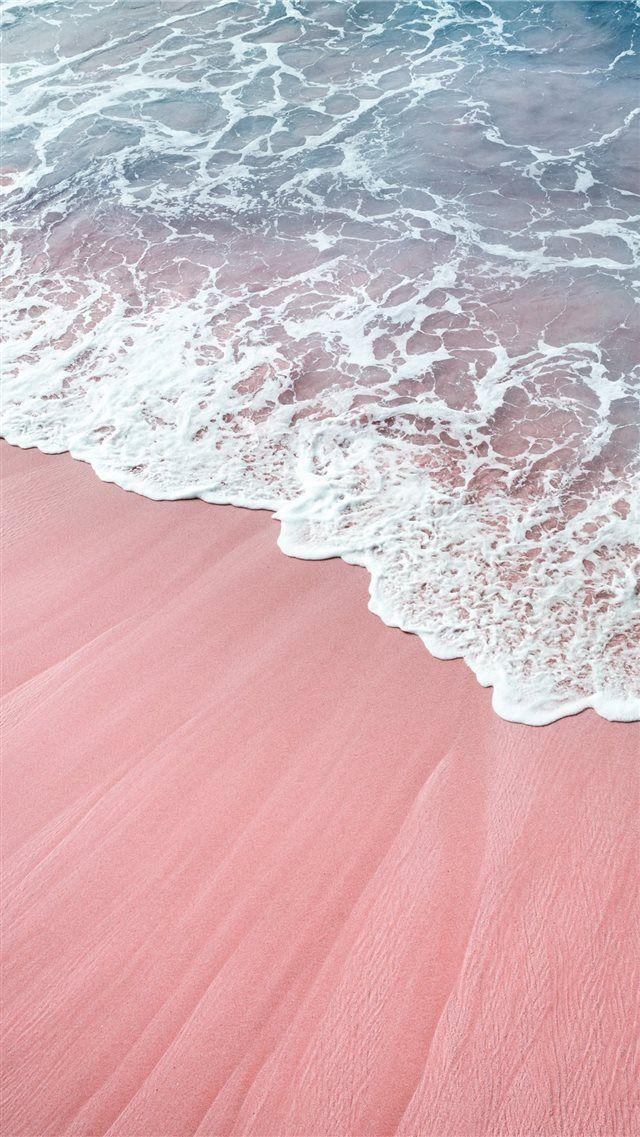 pink wawes iPhone 8 Wallpapers ภาพถ่ายชายหาด, ธรรมชาติ