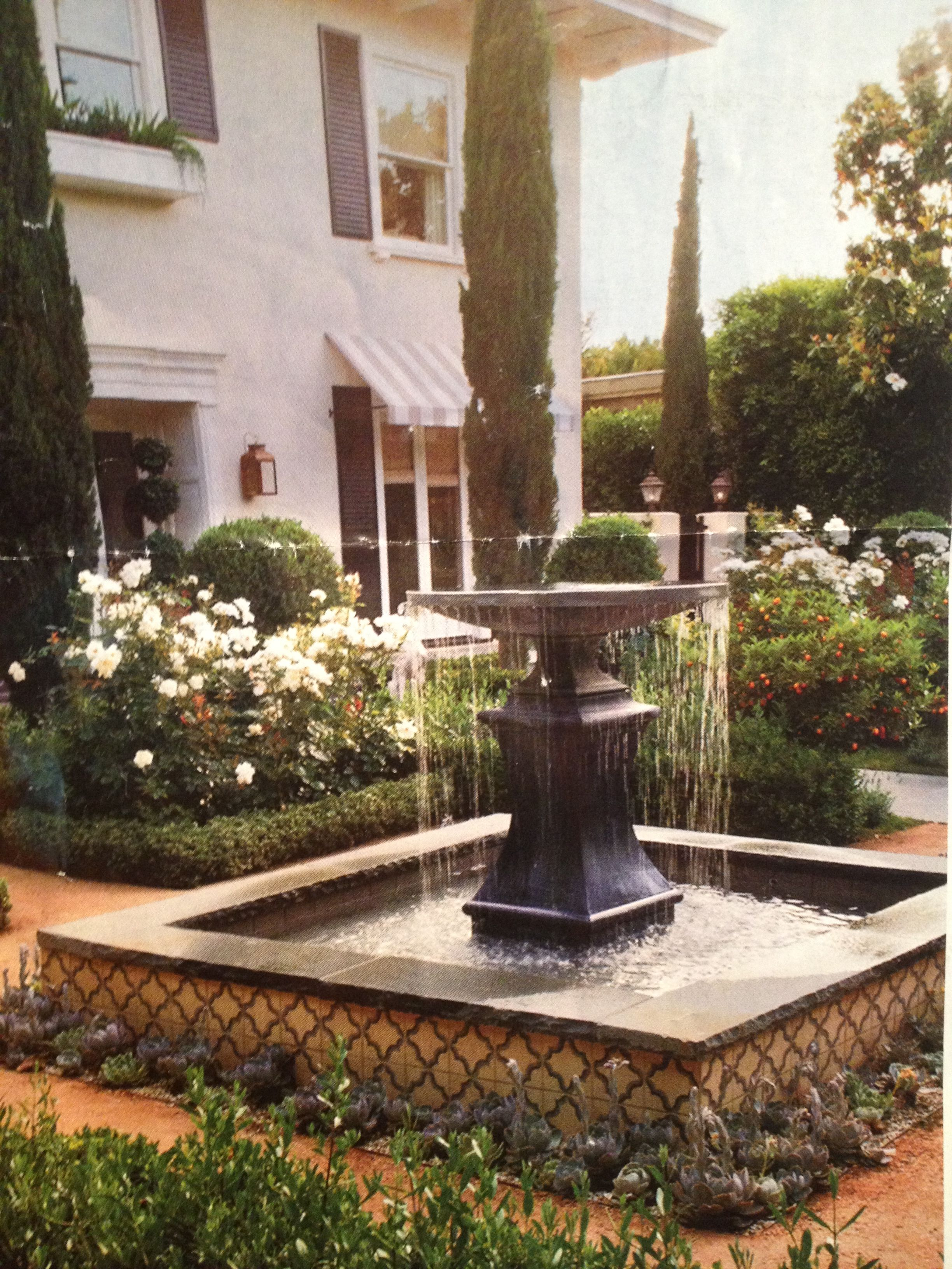 Favorite backyard fountain | Fountains backyard, Outdoor ...