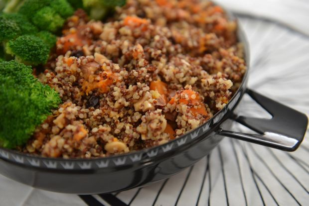 Nate's Quinoa with Sweet Potatoes #athletefood Training in Clermont (Florida) last week was no joke! The workouts were hard and it was a jolt back into serious training mode. It's been awhile since I've trained consistently with fast training partners and no distractions. #athletefood