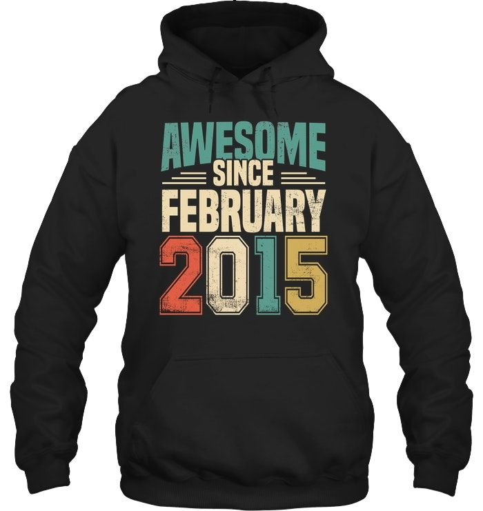 Awesome Since February 2015 3 Years Old T Shirt #oldtshirtsandsuch