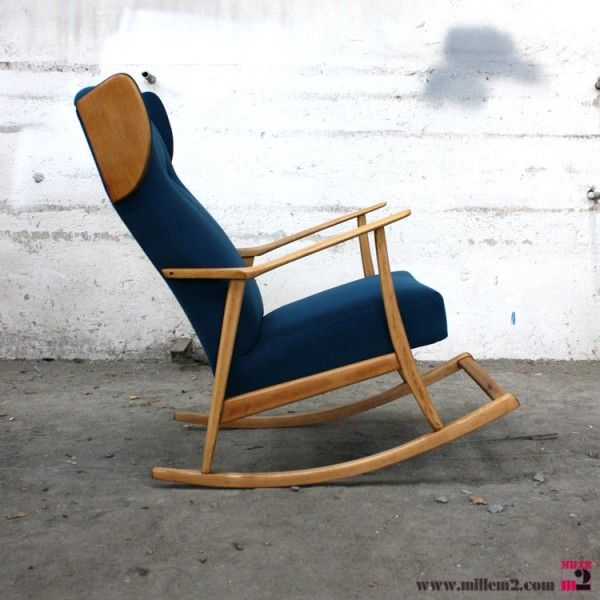 awesome fauteuil bascule vintage bleu mille m rocking with rocking chair allaitement. Black Bedroom Furniture Sets. Home Design Ideas