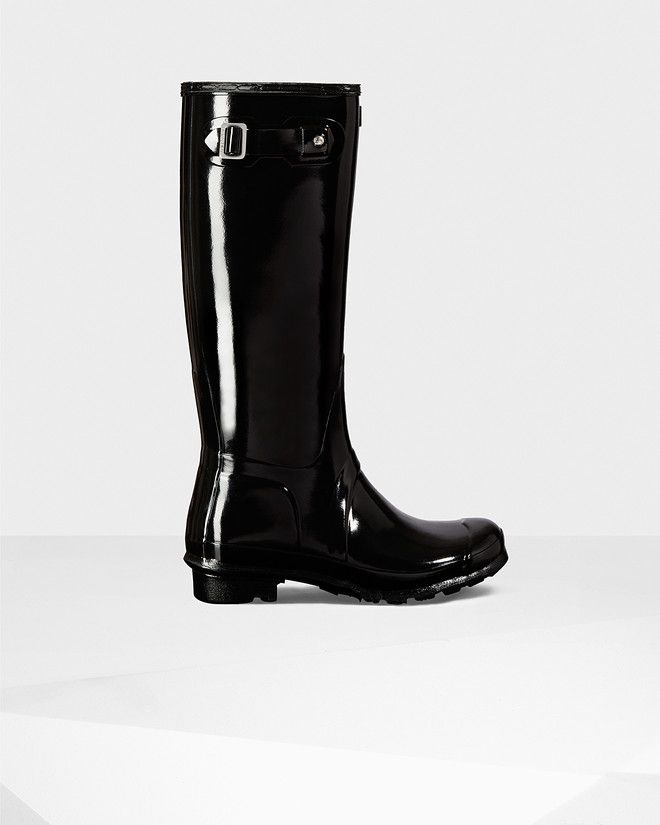 Women's original tall gloss rain boots | Shoe Wants