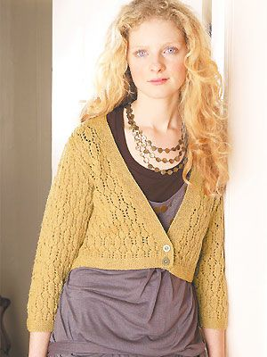 Lacy Cropped Cardigan 375mm 4mm Needles Potential Knitting
