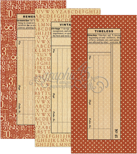 Graphic 45 Policy Envelopes - Large Red