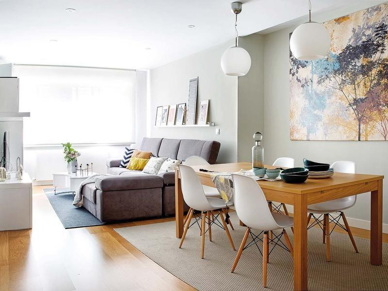 una casa decorada con calidez n rdica mini apartamentos wohnzimmer wohnzimmer ideen y esszimmer. Black Bedroom Furniture Sets. Home Design Ideas