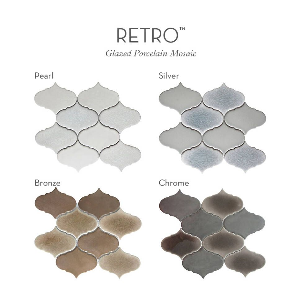 Retro 3 X Porcelain Mosaic Tile