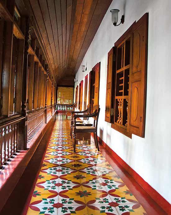 Athangudi Tiles Chettinadu Style Interiors Kerala House Design
