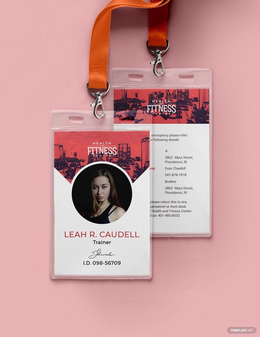 Gym Id Card Template Free Pdf Word Psd Apple Pages Illustrator Publisher Id Card Template Gym Membership Card Identity Card Design
