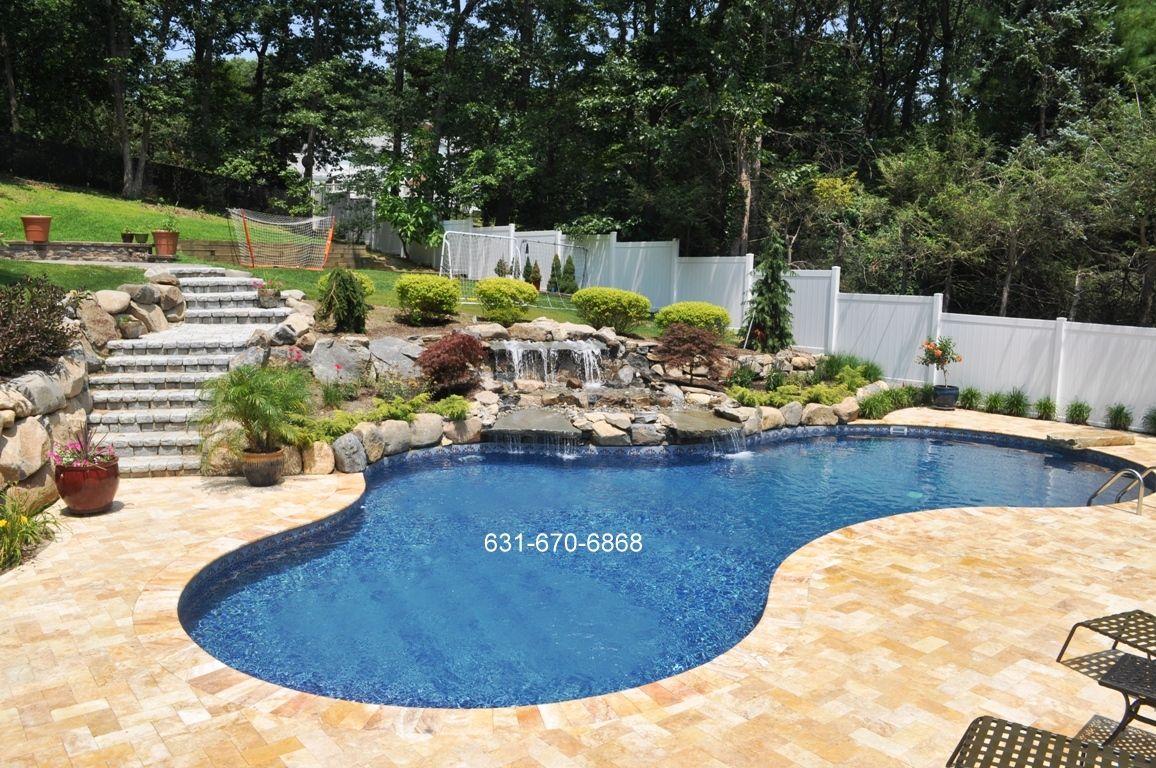 Boulders Around Pool Brookville 11545 Swimming Pools  Landscape & Masonry Designer