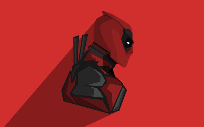 Download Wallpapers 4k Deadpool Minimal Superheroes Dc Comics Besthqwallpapers Com Deadpool Wallpaper Deadpool Hd Wallpaper Deadpool Illustration