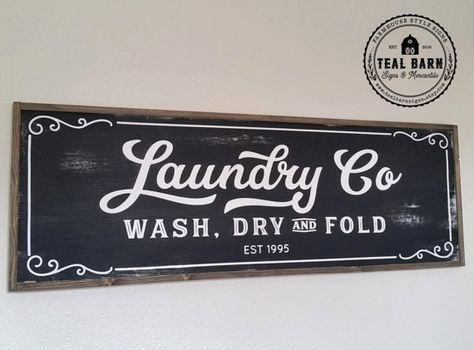 Laundry And Co Sign Glamorous Laundry Co Sign Wash Dry And Fold Personalizedtealbarnsigns Review